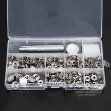 Heavy Duty Snap Fasteners 15mm 30 Sets Press Studs Kit Poppers Buttons <strong>w</strong> /Tool