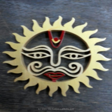 "Natural Shreeparni Wood made ""Surya"" (Sun) - A Religious Craft by Kiran Jewellers"