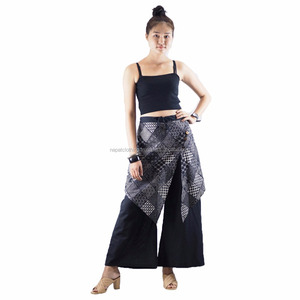 NAPAT Women Men Linen Cotton Harem Pants Baggy Loose Fit Trousers Casual High Waist Lady Waistband Fashion New