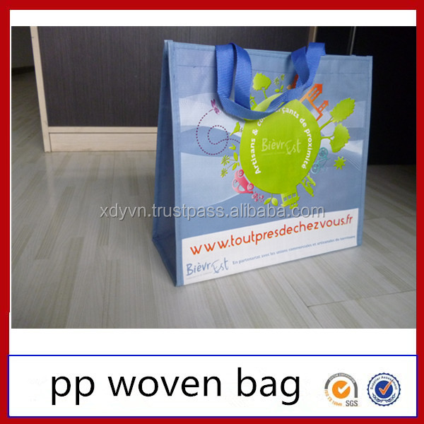 Good quality superior PP woven reuseable shopping bag for tupperware