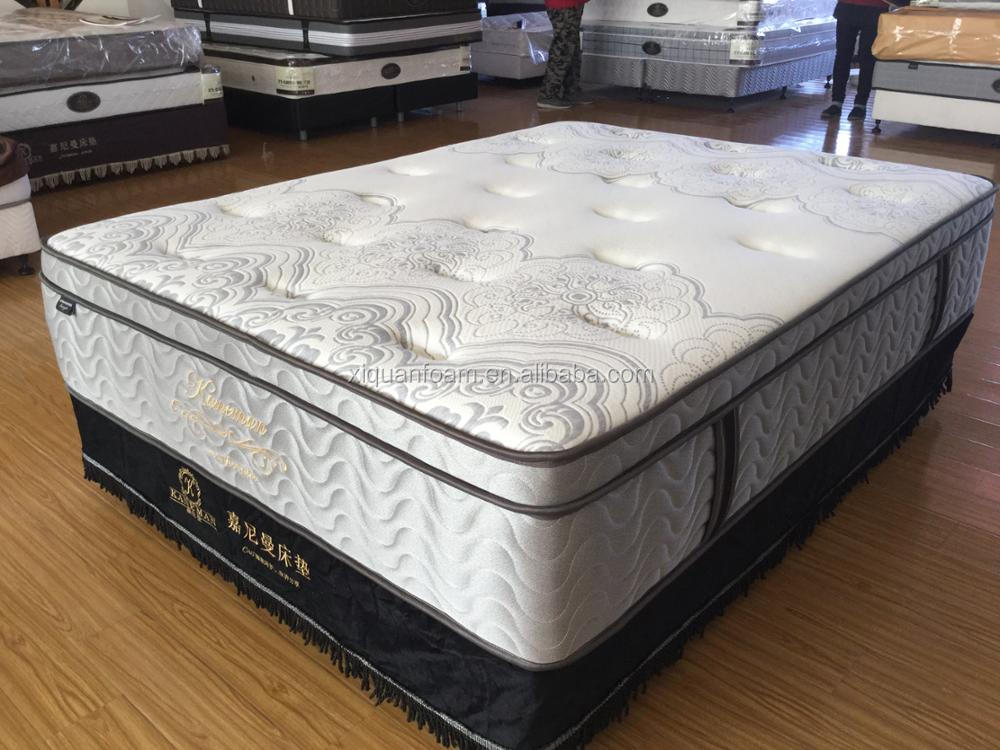 Royal luxury hotel furniture cuddle mattress from mattress maufacturer