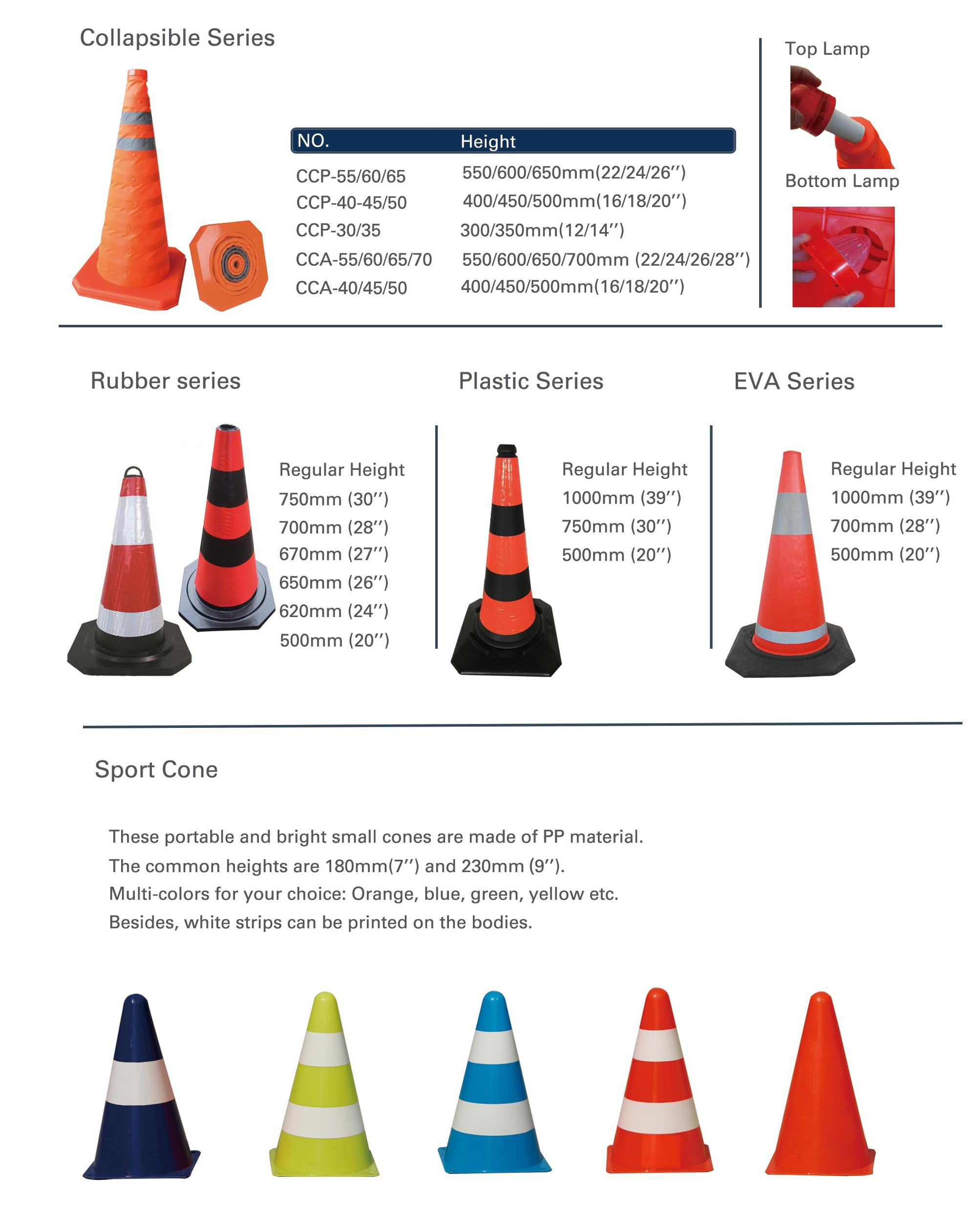 china manufacturer high intensity reflective tape traffic cone 18