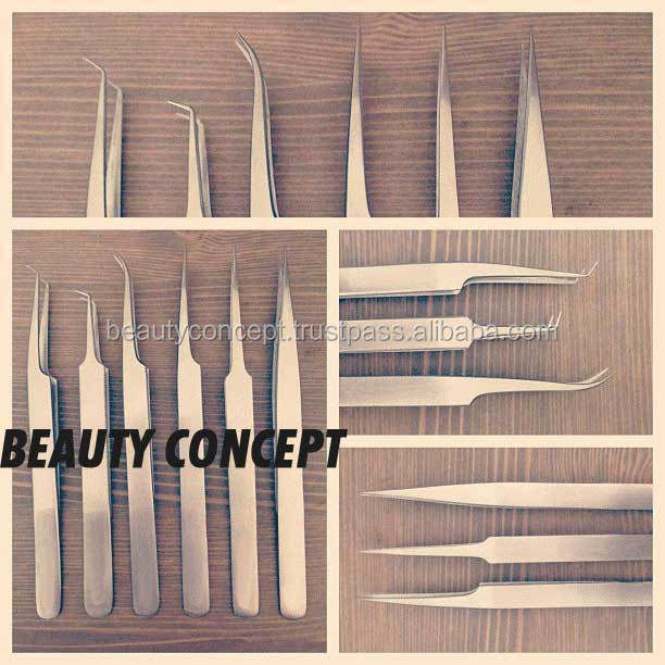 Classical & Stylish Anti-Magnetic Eyelash Extension Tweezers/ AISI304 Non-Magnetic Stainless Steel Tweezers