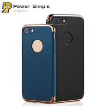 Premium Shockproof Cover Case for iPhone 6 case 6s 7 Plus Plating PC Armor Protection Matte Hard shell for iPhone 7 Case Capa