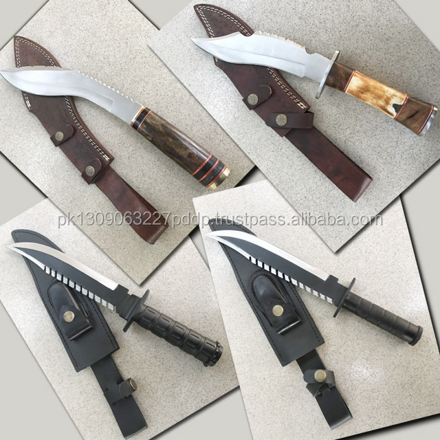 Large Hunting Knife's J - 2 Stainless steel HANDMADE KNIFE with Leather Cover