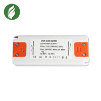 2018 hot sale promotional 30w super slim power supply DC24V led emergency driver