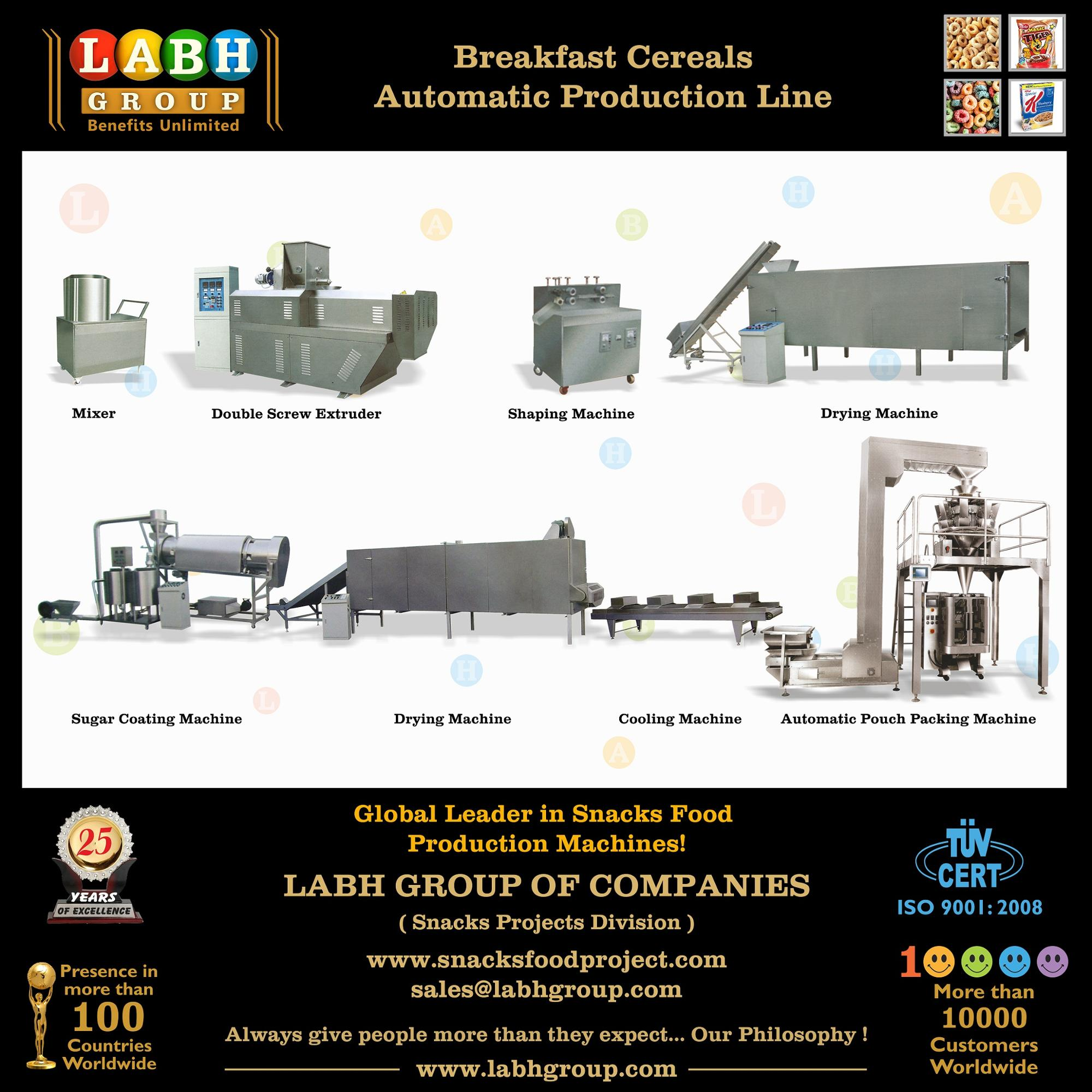 Labh Brand Breakfast Cereals Manufacturing Line Machines