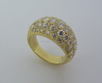18K Yellow & White Gold Ring with Yellow Sapphire and Natural Diamonds 3.04 total carat IGL Certificate