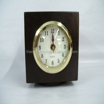 Black beautiful table clock and compass fix in box