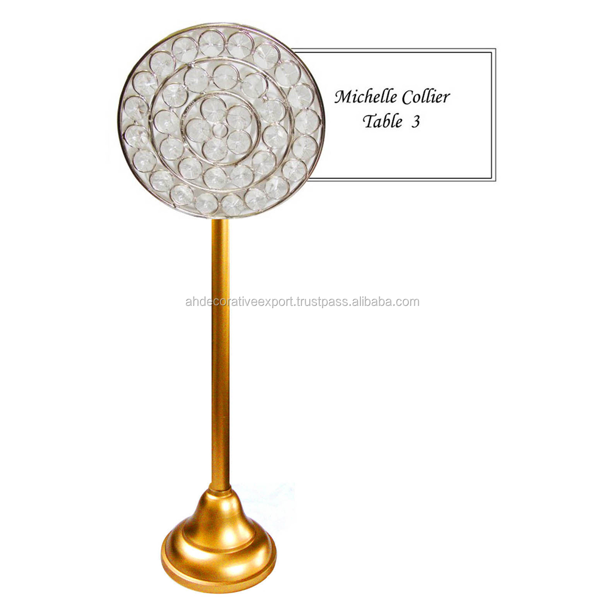 Guest Table Name Card Holder Round Shape