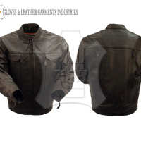 Custom Made Motorbike Leather Jacket Fashion