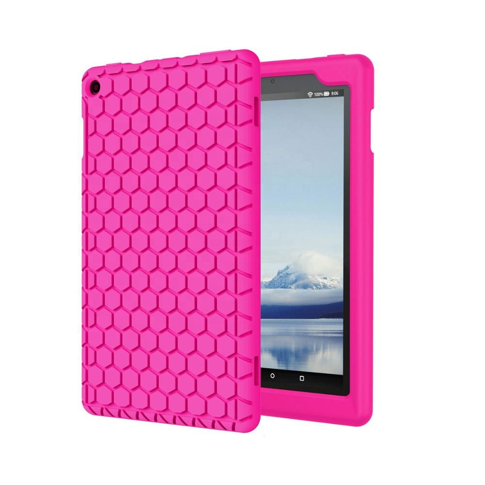 New Arrival Light Weight <strong>Shock</strong> Proof Soft Silicone Back Cover for Fire HD 8(7th and 8th Generation, 2017 and 2018 Release)