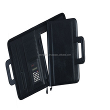 ADACF - 0050 multipurpose leather folder / custom design hanging file folders / zipper file folder bag