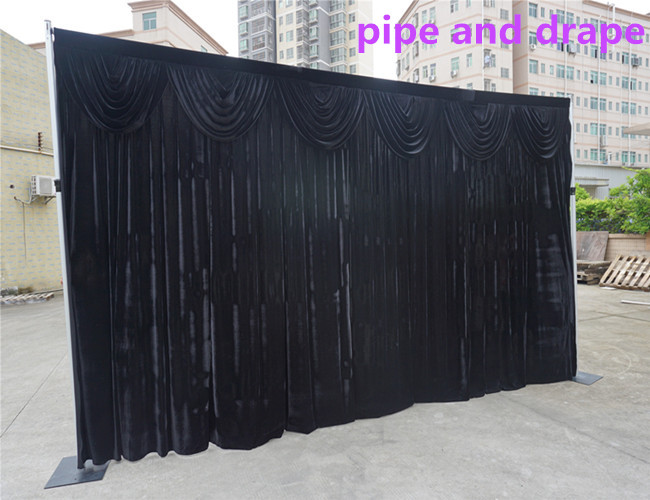 portable pipe and drape innovative system for wedding party performance