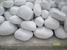 White Pebbles / Natural Stone / Tumbled Dolomite for Landscape and Garden Decoration