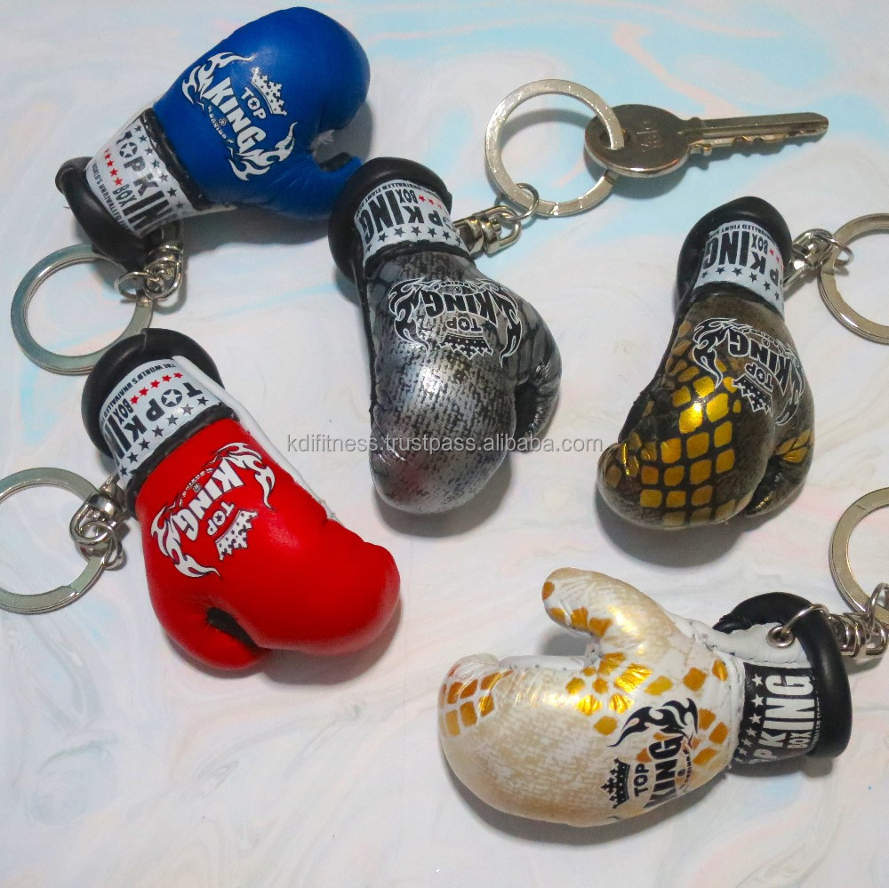 Synthetic mini Boxing Gloves With Key chain , Car hanging Gloves