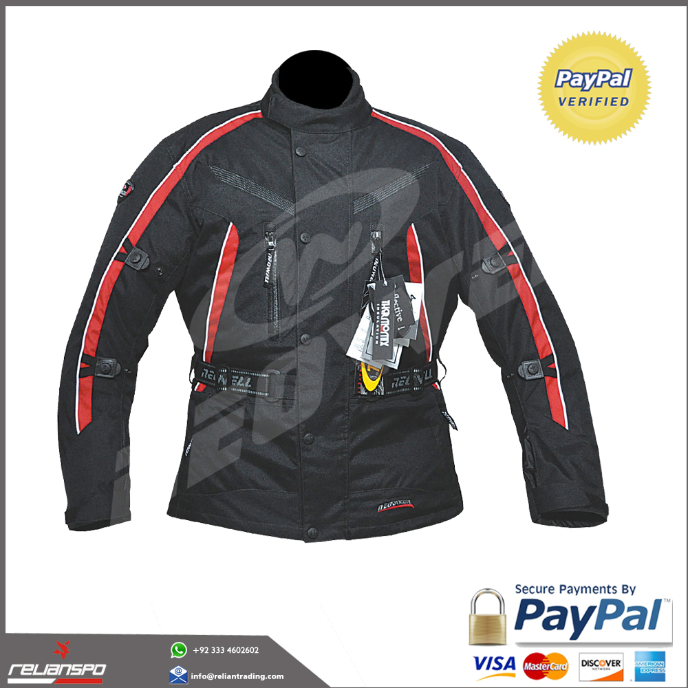 Black Atem Racing Leather Jacket CE Approve Armour Motorbike Motorcycle All Size