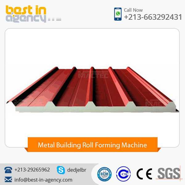 Highly Efficient pu Sandwich Panel/Metal Building Roll Former