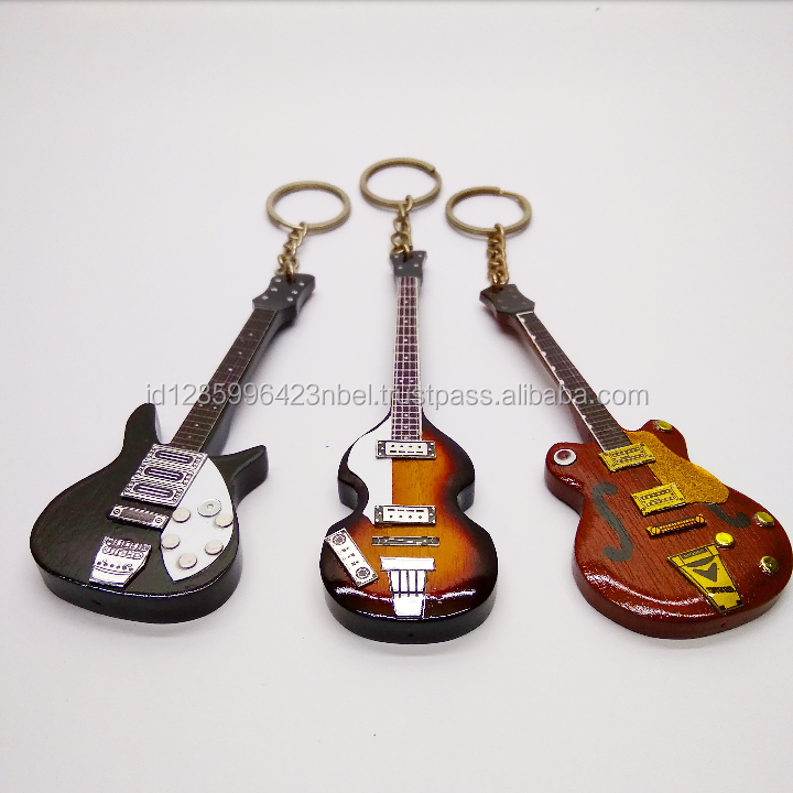 souvenir fashion caring custom blank wood keychain keyring music theme