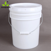 5 gallon chemical plastic pail with rubber seal on lid custom PP plastic packaging pail