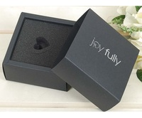 Handmade custom luxury black cardboard drawer gift box packaging box