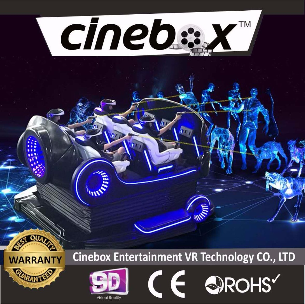9D Virtual Reality Simulator 6 Seats Cinema earn money best business profitable 5D 7D Cinema Simulation Most famous business