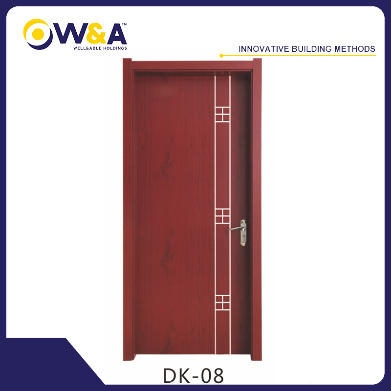 Eco-Friendly Waterproof WPC Interior Painting Doors for Bedroom Bathroom