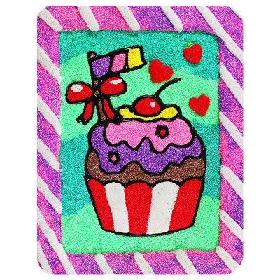 New Arrival DIY Craft Modeling Foam Clay Decorative frame - Cupcake