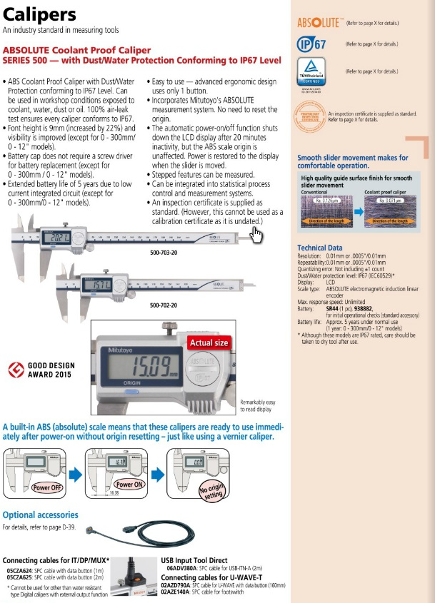 Effortless electronic digital caliper for Measuring Tools