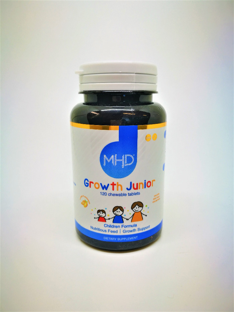 MHD: Growth Junior - Calcium, and Vitamin D3 Children's Supplement 120 Chewable Tablet