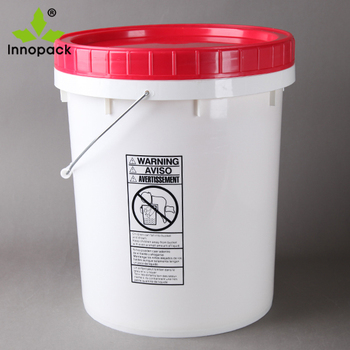 5 gallon plastic pails with screw on lid