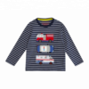 100% Cotton Yarn Dyed Long Sleeve Round Neck Boy`s T-Shirt
