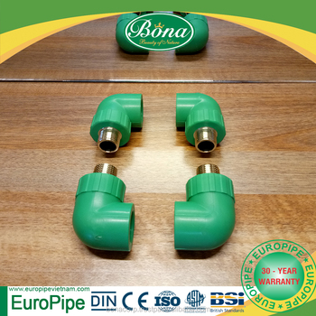 [EUROPIPE] 90 degree elbow pp pipe and pipe fittings inner tube connector