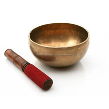 Brass Singing bowl Medium Dia- 5 Inches with Leather beater