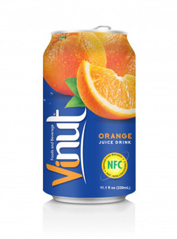 VINUT_ Orange Fruit Juice Drink 330ml Can