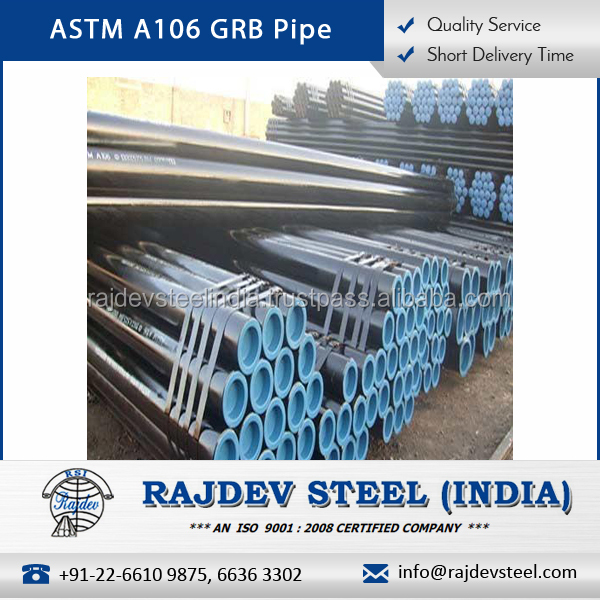 Fast Delivery Great Tensile Strength ASTM A106 GRB Pipe for Chemical Industry