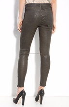 2017 New Design Leather Leggings Hot Sale Sexy Office Ladies Workwear Pants