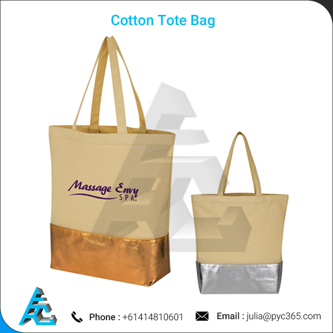 Attractive Design Cotton Tote Shopping Bags with Handle