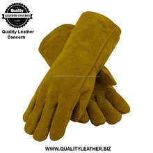 Shoulder Split Cowhide Leather with Cotton Foam Liner and Kevlar Stitching Welding Glove
