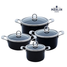 [MESLIN] Korean Premium Enamel Coating Cooking Pot 16cm + 20cm + 20cmStew +24cm 1 Set Excellent Enamel Pot Set Made in Korea