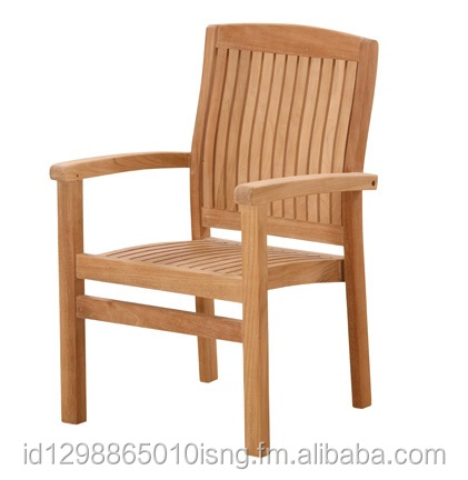 hight quality teak stacking chair indonesia outdoor garden furniture