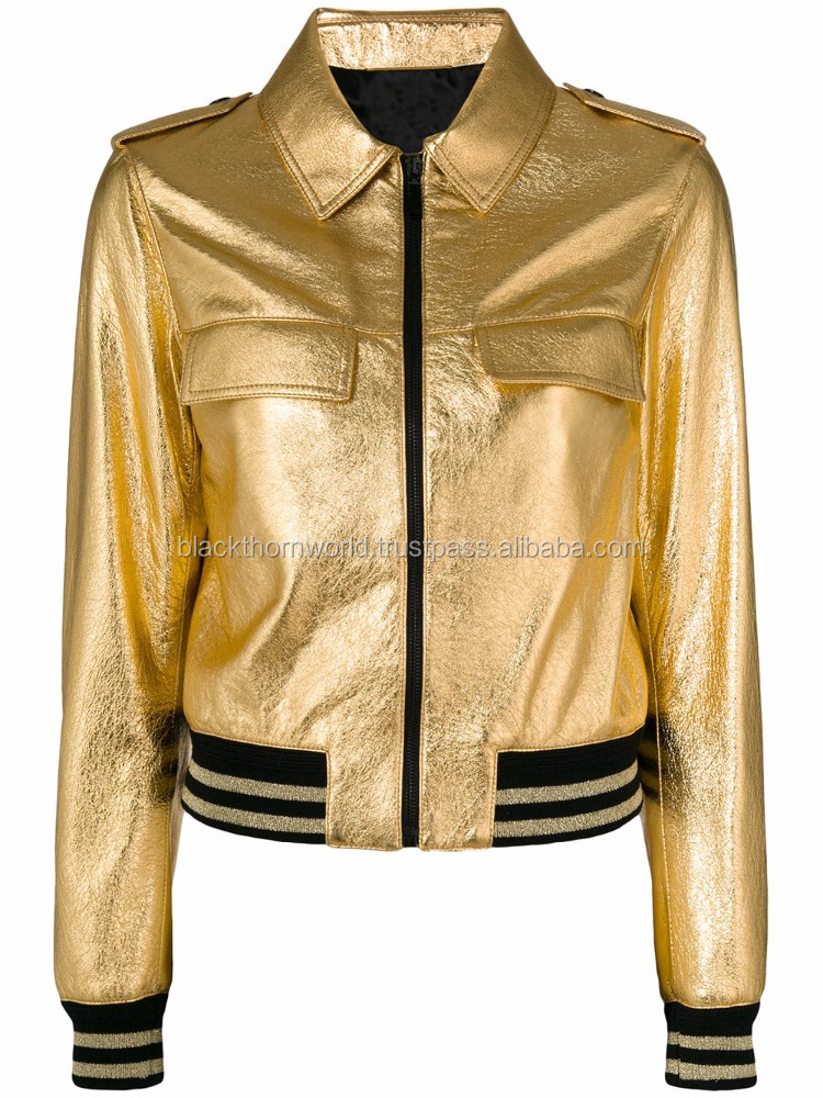 Faux fashion street wear leather jacket for women with fast fastening zippered