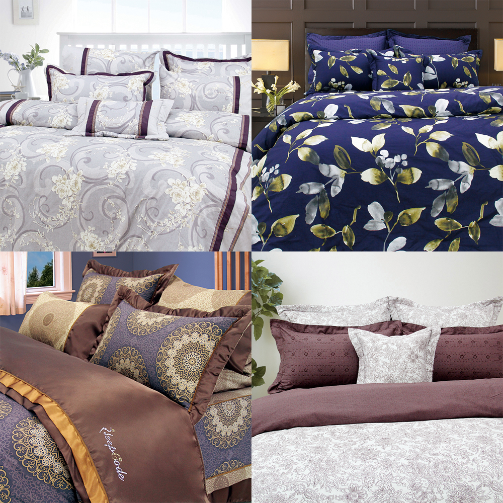 Glazed digital printed comforter bedding set cotton silk fabric