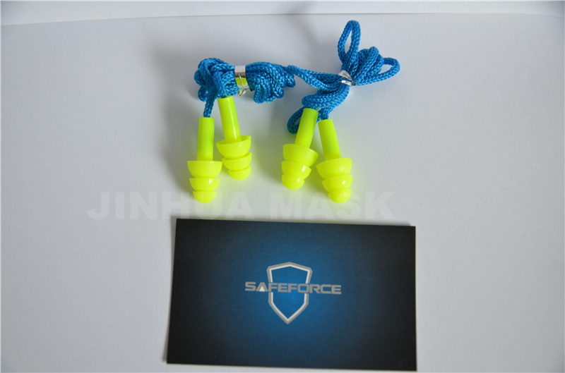 soundproof silicone earplug with cord