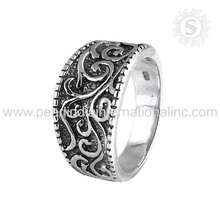 Customized 925 sterling silver ring wholesale jewelry jaipur handmade plain silver ring