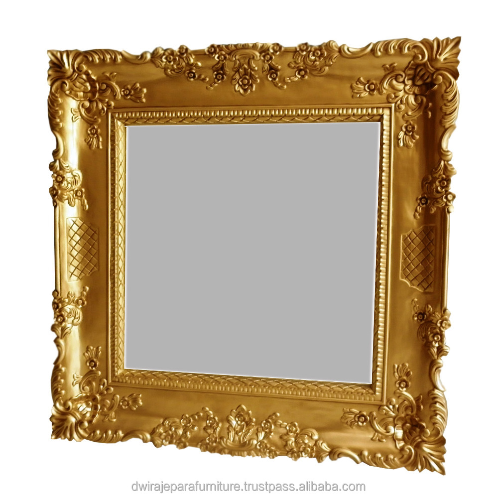 Wooden Decorative Carved Gold Mirror