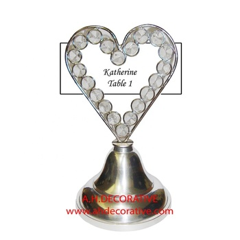Guest Table Name Card Holder Heart Shape