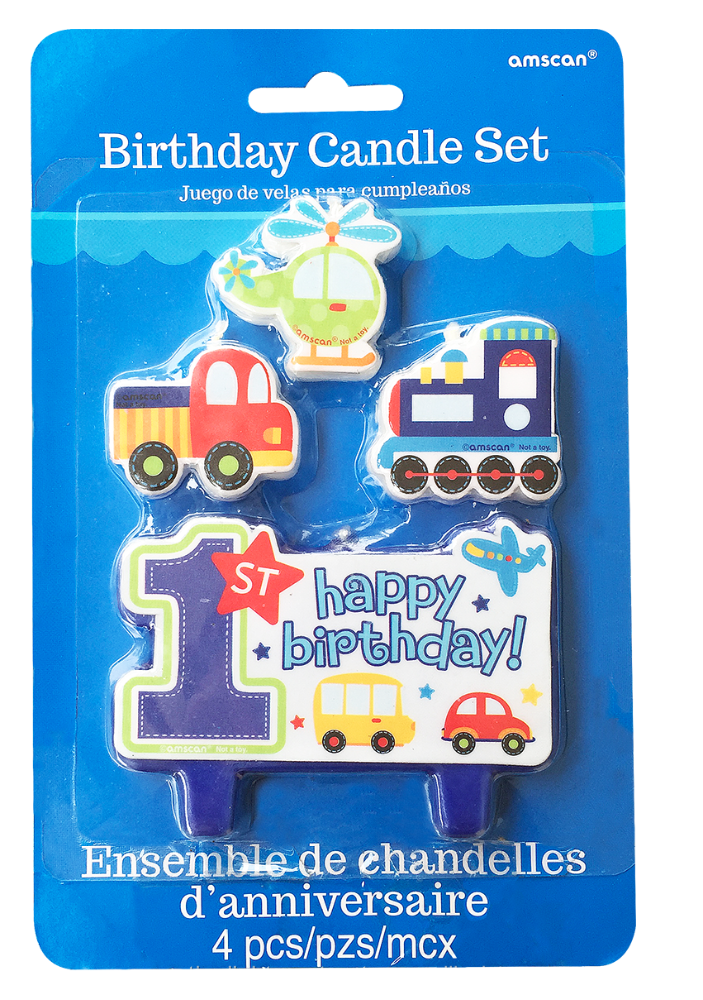 molded birthday candles set