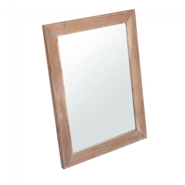 Kompact Contemporary Bathroom Wall Mirror Frame - White wash