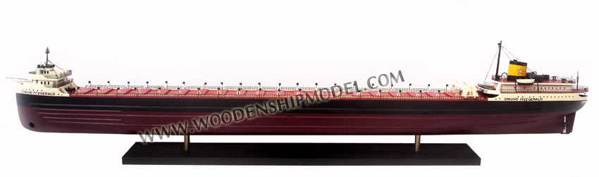 SS EDMUND FITZGERALD WOODEN MODEL BOAT_ WOODEN HANDICRAFT MODEL